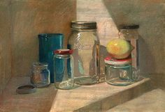 Sally Strand Lemon with Jars Pastel and Mixed Media 15 x Painting Still Life, Still Life Art, Love Painting, Banana Art, Realistic Paintings, Oil Paintings, Traditional Paintings, Pastel Art, Still Life Photography