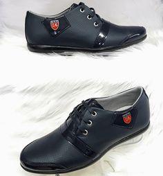 Blauwe Heren Sneaker met Glimmend Details