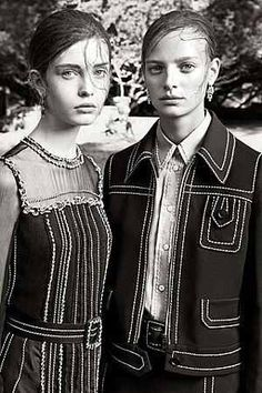 Shot by Steven Meisel, the Prada Resort 2015 campaign has arrived. Keep an eye out for it in November issues.