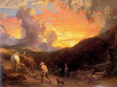 Cave to Canvas, Samuel Palmer, Ploughing at Sunset, n.d.