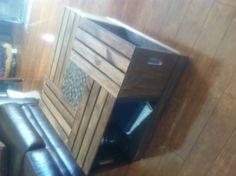 DIY apple crate coffee table