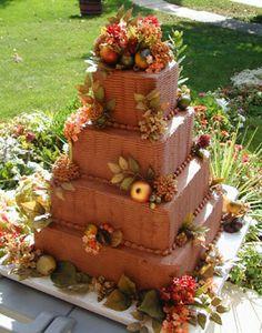 Brides: Fall Wedding Cakes :