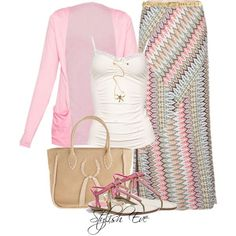 Love the skirt, without the jewelry...Stylish Eve Outfits 2013: Printed Maxi Skirts for Every Stylish Need