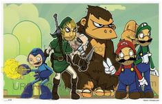 Nintendo Troll faces #funny #illustration