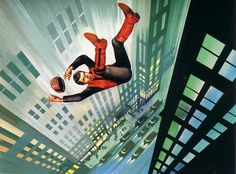 Ron Embleton - Captain Scarlet end-credits artwork. Really quite beautiful.