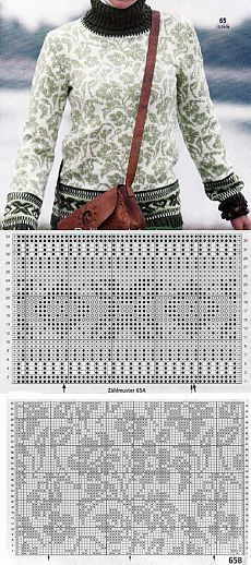 Crochet Patterns Sweaters Jacquard patterns with knitting needles: patterns + explanations . Fair Isle Knitting Patterns, Fair Isle Pattern, Knitting Charts, Sweater Knitting Patterns, Easy Knitting, Knitting Stitches, Knitting Designs, Knit Patterns, Knitting Sweaters