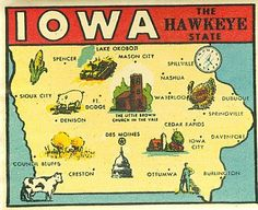 Iowa. - The Hawkeye State - Postcard