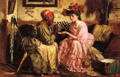 It's About Time: The Milliner Fortune Teller by American Harry Herman Roseland c 1867-1950