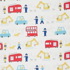 Buy John Lewis Men At Work Fabric, Multi   John Lewis