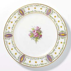 UNITED PLATE PORCELAIN SEVRES THE END OF THE XVIII CENTURY BRAND BLUE Sevres, CIRCA 1790
