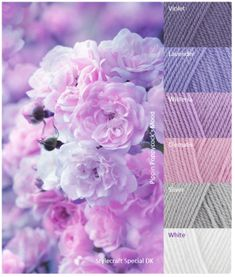 Spring Feeling Purple Color Schemes, Color Schemes Colour Palettes, Colour Pallette, Color Blending, Color Mixing, Yarn Color Combinations, Square, Yarn Colors, Color Themes