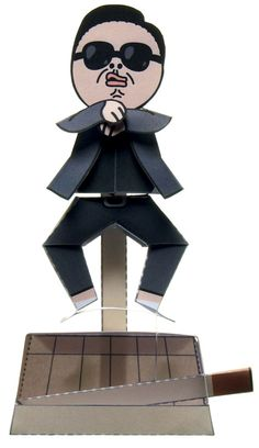 papercraft gangnam style psy  3-D challenge!! Printable tutorial!!  More on this site!