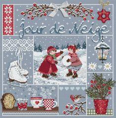 """Jour de Neige"" CHART by Madame la Fée ( french dsigner )"