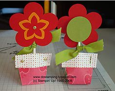 Flower Pot Sucker Holder by dostamping - Cards and Paper Crafts at Splitcoaststampers Candy Crafts, 3d Paper Crafts, Cute Crafts, Diy Crafts, Paper Crafting, Craft Show Ideas, Craft Activities For Kids, Crafts For Kids, Lollipop Craft