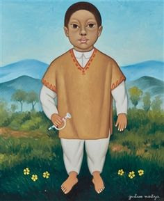 Boy in Orange Vest By Gustavo Montoya