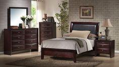 emily sleigh bedroom set rich espresso finish em200tb decor south