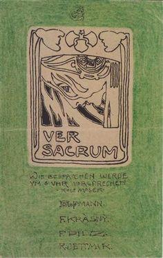 Postcard to Carl Moll, Ver Sacrum - Koloman Moser