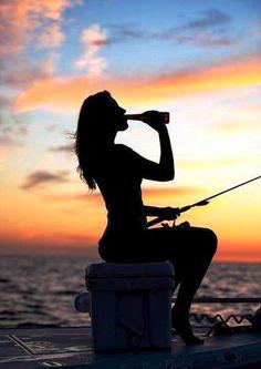 girl fishing | Tumblr