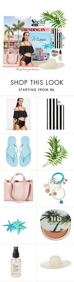 """Contest SheIn: Bikini"" by pearlie-g8s on Polyvore featuring Pottery Barn, Havaianas, Corto Moltedo, nikki lissoni, Urban Decay, Olivine and Jennifer Ouellette"