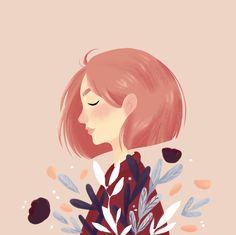 Spring by Chaymaa sobhy Character Illustration, Digital Illustration, Arte Indie, Digital Art Tutorial, Aesthetic Art, Cartoon Art, Cute Drawings, Cute Art, Art Sketches