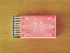 Hand-stamped about two hundred of these matchbooks for the annual return of Spoke Art's preeminent Wes Anderson art show, 'Bad Dads.' No better way to commemorate an enchanted old ruin than with an...