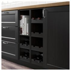 IKEA - HÖRDA Open cabinet black-brown