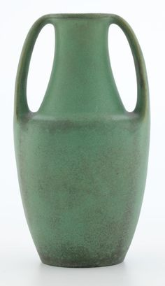 A TECO TWO-HANDLED POTTERY VASE DESIGNED BY FRITZ ALBERT . Crystal Lake, Illinois, circa 1910.