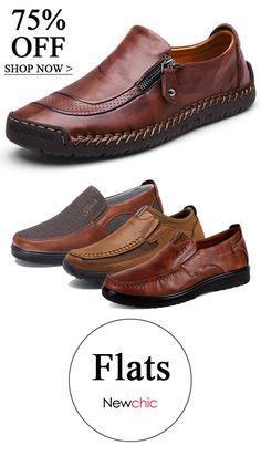 ed1f2a0fc6bbbd Men's Flats #mens #flats #fashion. Trevor Moore · Newchic Men's Shoes