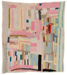 windwrinkle:  Amelia Bennett, Blocks and strips, c. 1965, Cotton, 84 x 79 inches (quilts of gee's bend)