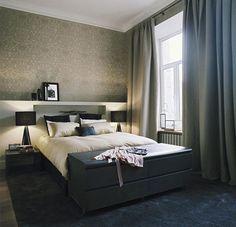 Kate Hume interior design - Freshome (12) Black Carpet Bedroom Modern Classic Bedroom & 15 Amazing Apartment Bedroom Ideas For Your Sleep Comfort | Bedroom ...