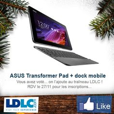 ASUS Transformer Pad TF103CG-1A005A + dock mobile => http://www.ldlc.com/fiche/PB00176852.html#53302f3f2a970