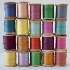 more colorful vintage thread, can't resist