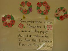 First Grade Garden: Pumpkins, Owls, and Remembrance Day. Remembrance Day Poems, Remembrance Day Activities, Veterans Day Activities, Preschool Themes, Kindergarten Activities, Art For Kids, Crafts For Kids, Diy Crafts, First Grade