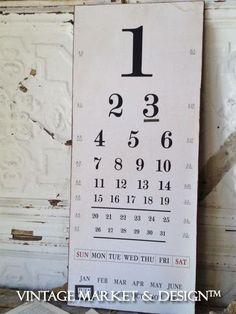 Eye Chart Calendar