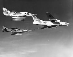 Supermarine Scimitar and A-4 Skyhawk refuelling from A-3 Skywarrior