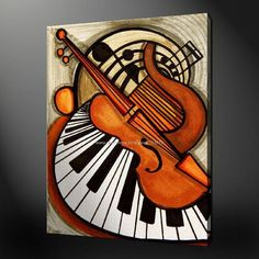 Compare prices on modern supplies- online shopping/buy low p Music Painting, Music Artwork, Music Drawings, Art Drawings, Jazz Art, Art Sketches, Pop Art, Abstract Art, Abstract Landscape