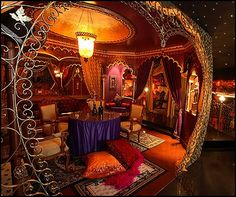 Image detail for -Moulin Rouge Boudoir style decorating ideas and decor here Gothic House, Victorian Gothic, Bedroom Themes, Bedroom Decor, Bedroom Ideas, Gothic Bedroom, Punk Bedroom, Movie Bedroom, Bedroom Scene