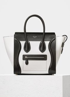 e73a0b3679 Micro Luggage Handbag in Bicolour Sleek Calfskin - Céline Celine Micro