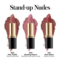 Revlon Just Launched Two Mrs. Maisel-Inspired Lipsticks Sets, and They're Nothing Short of Marvelous Revlon Just Launched Two Mrs. Maisel-Inspired Lipsticks Sets, and They're Nothing Short of Marvelous Mauve Lipstick, Drugstore Lipstick, Orange Lipstick, Lipstick Art, Brown Lipstick, Makeup Dupes, Revlon Lipstick Swatches, Drugstore Foundation, Mac Lipsticks