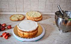 narozeninovy-dort-postup Cheesecake, Food, Mascarpone, Cheesecakes, Essen, Meals, Yemek, Cherry Cheesecake Shooters, Eten