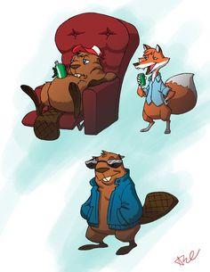 Beaver and friends 1 by ~seniorgoldenspork on deviantART