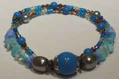 Women's Different Shades of Blue with Prisms by ArtHouseCreations, $21.99
