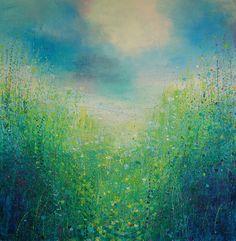 "Saatchi Online Artist: Sandy Dooley; Acrylic 2013 Painting ""English Summer"""