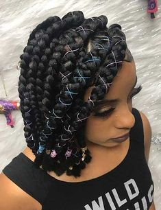 100 Totally Chic Box Braids Hairstyles A password will be e-mailed to you. 100 Totally Chic Box Braids Totally Chic Box Braids HairstylesBox braids have been in e Bob Box Braids Styles, Box Braids Hairstyles For Black Women, Cool Braid Hairstyles, Box Braids Styling, African Braids Hairstyles, Braids For Black Hair, My Hairstyle, Bob Hairstyles, Curly Hair Styles