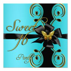 =>>Save on Teal Blue Gold Butterfly Sweet 16 Sweet Sixteen Personalized Invitation Teal Blue Gold Butterfly Sweet 16 Sweet Sixteen Personalized Invitation online after you search a lot for where to buyDiscount Deals Teal Blue Gold Butterfly Sweet 16 Sweet Sixteen...Cleck Hot Deals >>> http://www.zazzle.com/teal_blue_gold_butterfly_sweet_16_sweet_sixteen_invitation-161025423225978579?rf=238627982471231924&zbar=1&tc=terrest