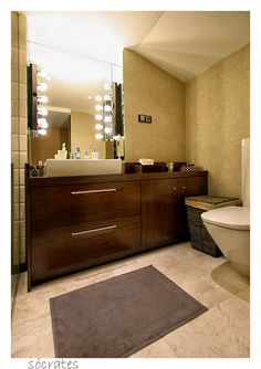 Bathroom, perfect amount of space and the color scheme is really nice