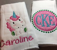 Baby burp cloths personalized burp cloth baby burp cloth burp monogrammed burp cloth monogrammed unicorn gift unicorn baby gift personalized baby gift negle Images