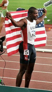 justin gatlin, 2012 USA Olympic Bronze Medal winner, Mens 100M race