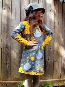 Freebook Little Sweat Dress - met gewone mouwen of kapmouwtjes - LinKim