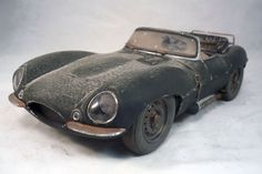 Jaguar XK SS Steve McQueen Barn Find Custom Weathered Unrestored AUTOart 1 18 XkFunny CarsBarn